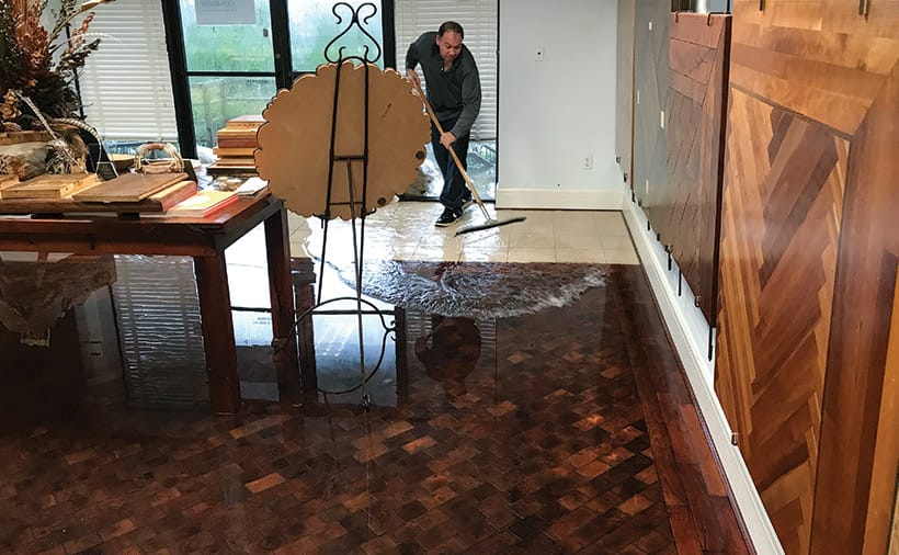 Wood Floor Business December January Schenck Company - How to remove tar adhesive from wood floor